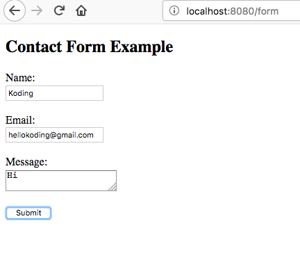 Contact Form Example With Java Spring Boot Freemarker And Amazon Ses