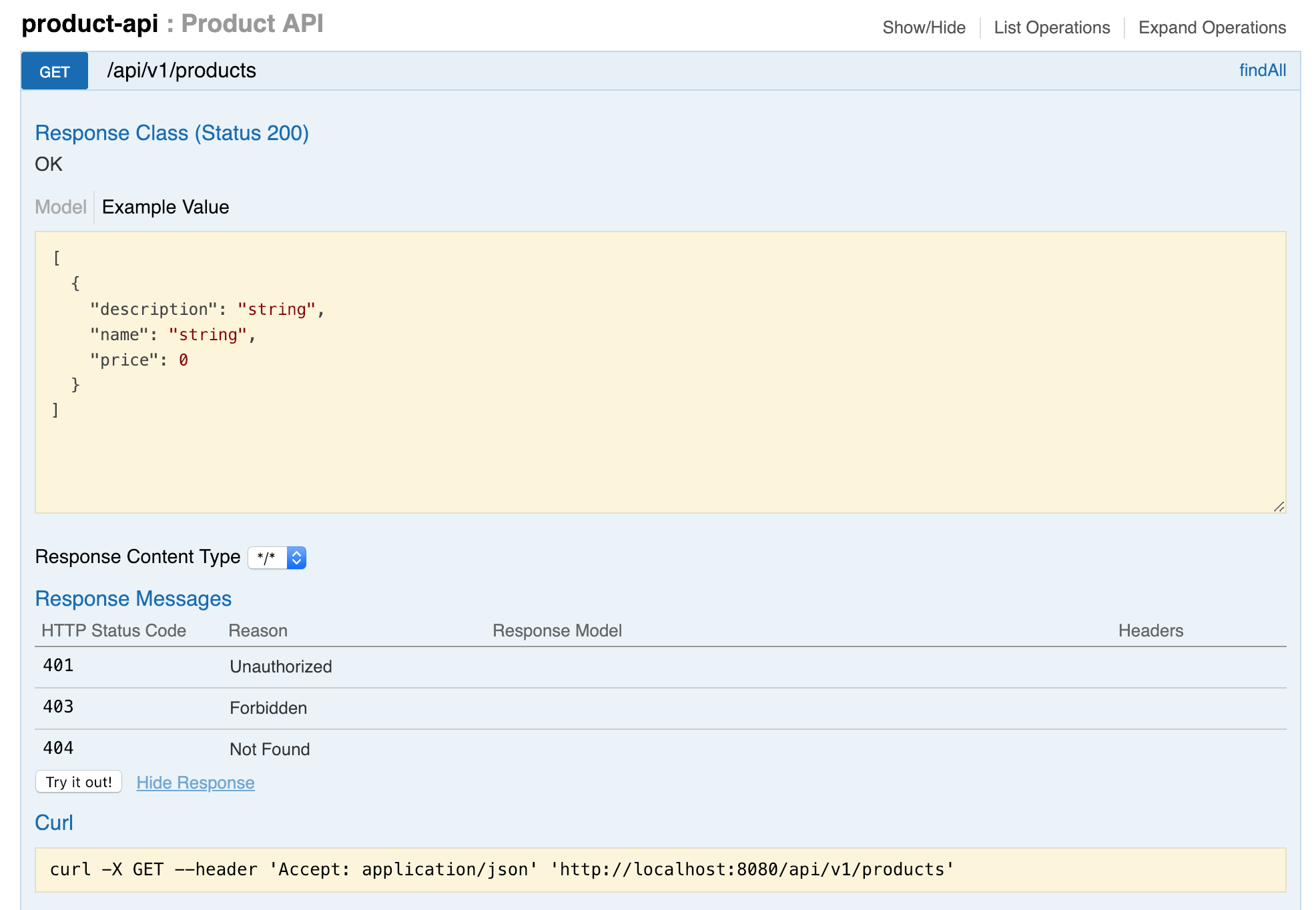 Spring Boot REST API Documentation with Swagger and SpringFox
